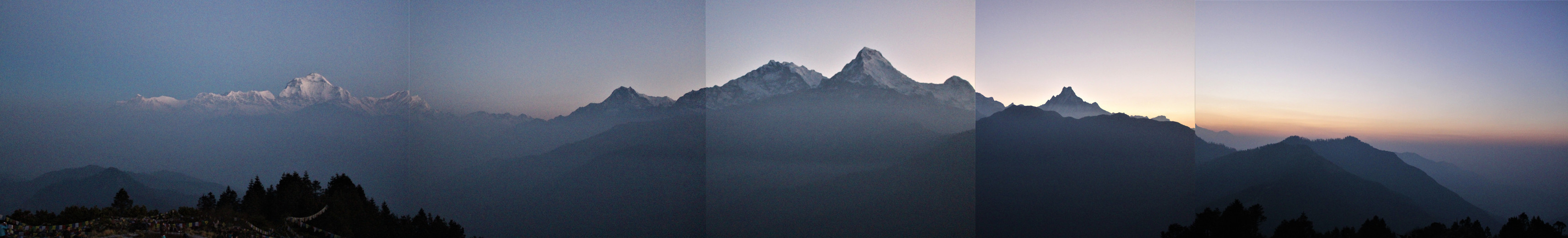 Annapurna Mountain Range from Poon Hill