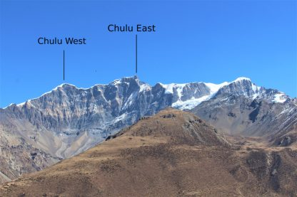 Chulu West and East in the Gungang Himal range