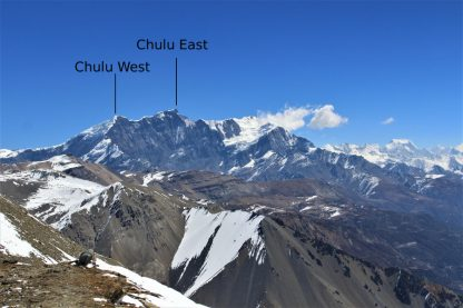 Gunggang Himal including Chulu mountain peaks