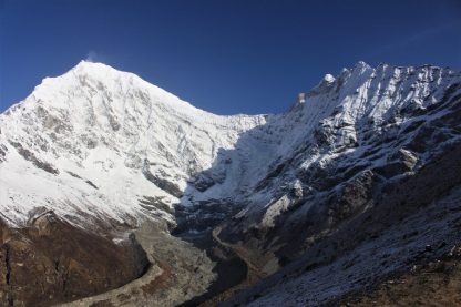 Langtang Lirung, Changbu and glacier above Kyanjin Gompa