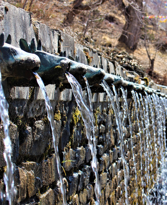 bull head faucets at muktinath temple
