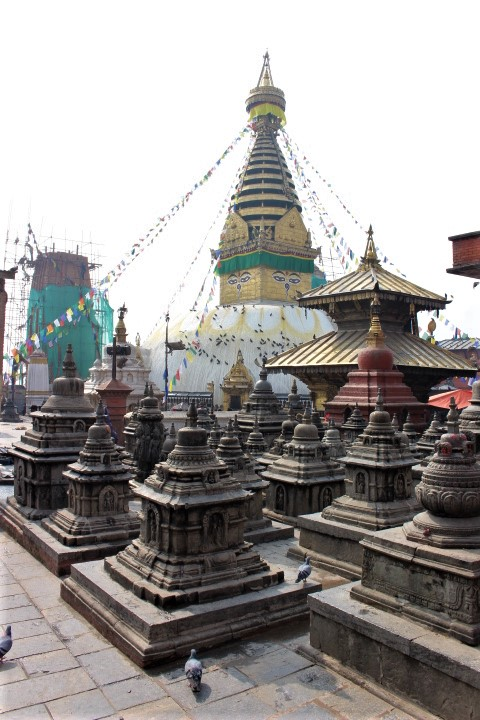 Swambhunath shrines and stupa