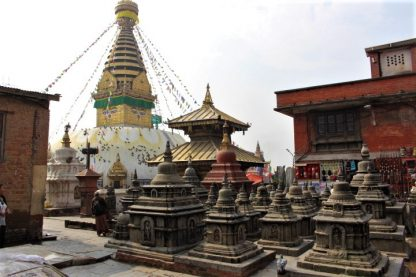 Swayambhunath stupa and shrines